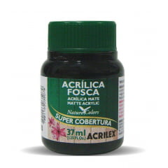 Tinta Acrílica Fosca Nature Colors Preto Acrilex - 37ml